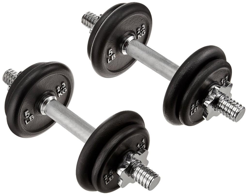 AmazonBasics 40-Pound Adjustable Weight Set