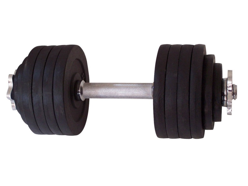 One Pair of Adjustable Dumbbells Cast Iron
