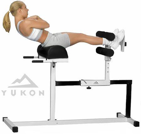 Yukon Glute, Hamstring, Back, and Abs Hyperextension Bench. GHD Exercise and Crossfit Machine