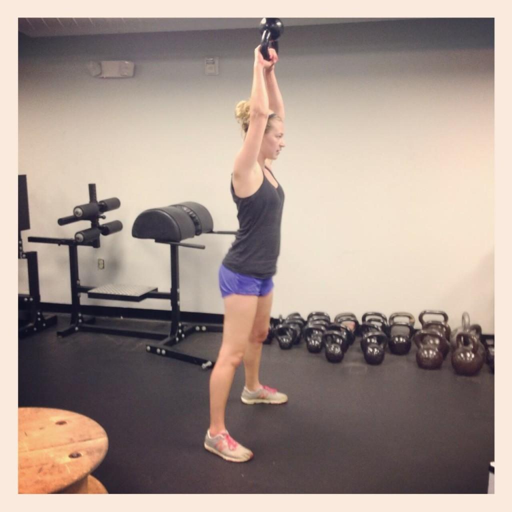 kettlebell weights gym woman