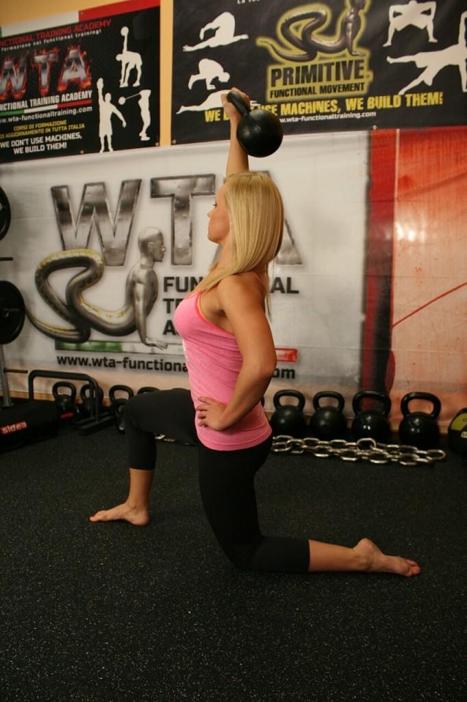 kettlebell workout gym woman weights