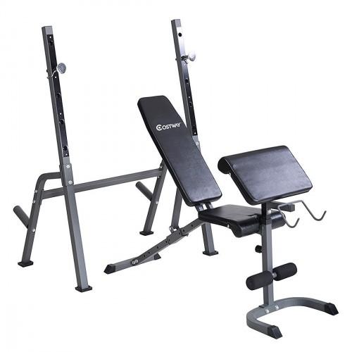 Goplus Adjustable Weight Lifting Bench