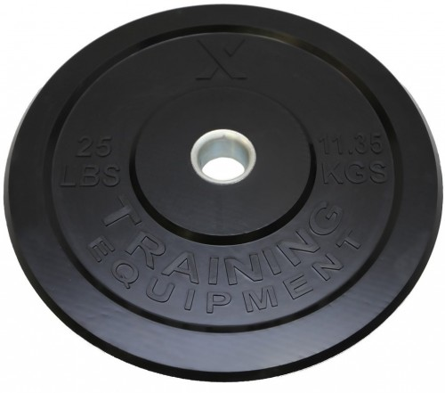 Premium Black Bumper Plate Solid Rubber with Steel Insert