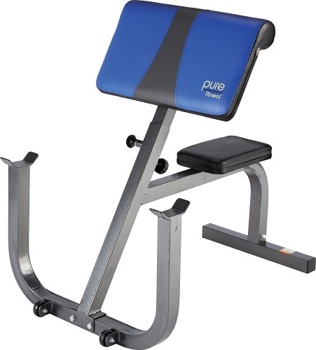 Pure Fitness Adjustable Seated Preacher Curl Bench