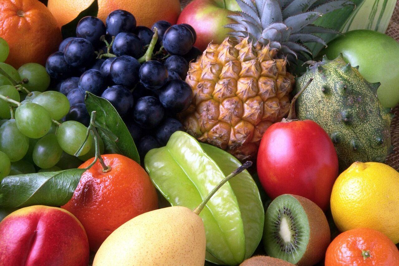 many sweet fruits