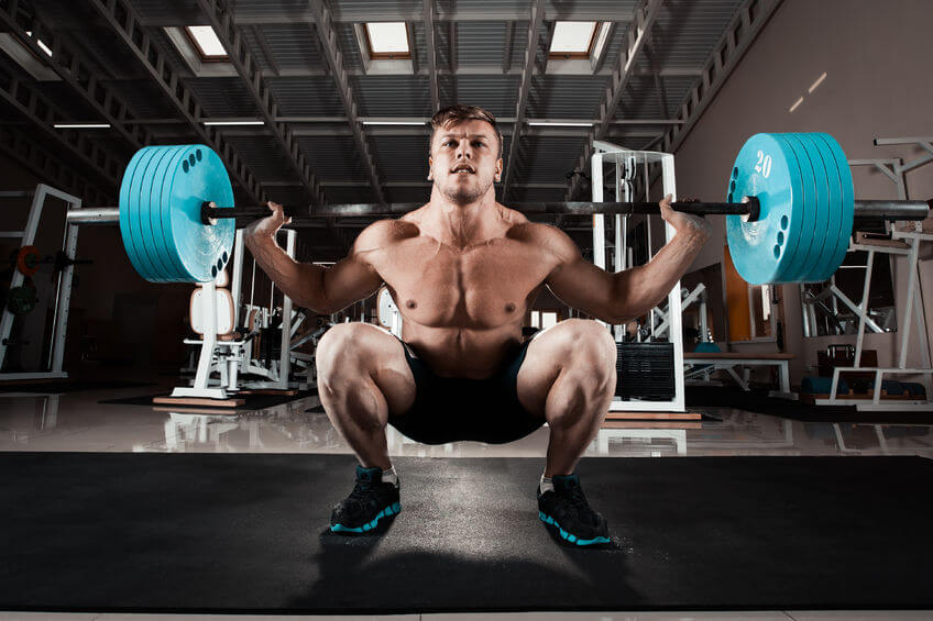 exercise squatting with weight