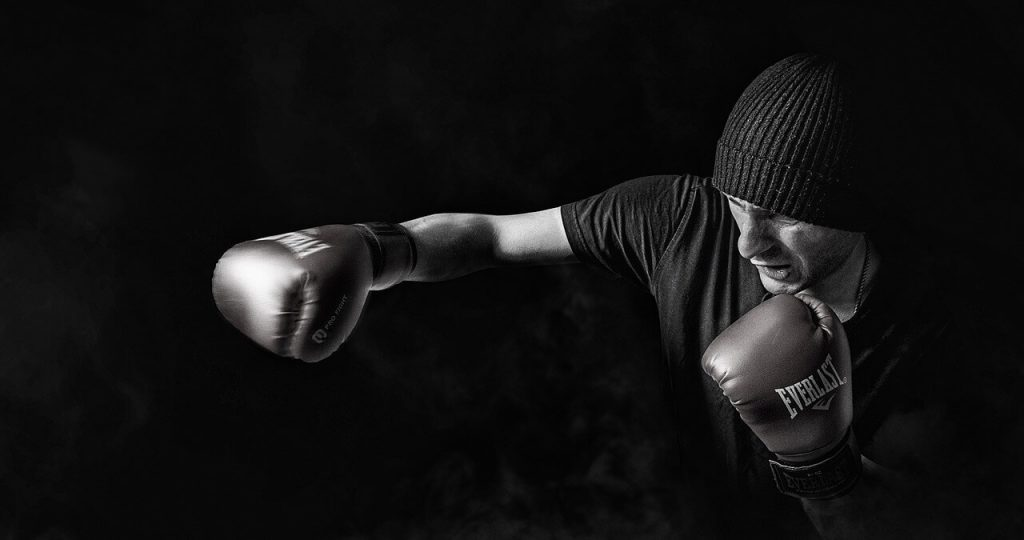 boxing and heavy bag