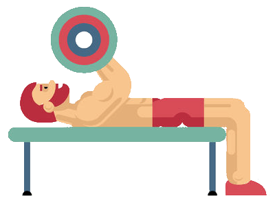 bench press workout icon