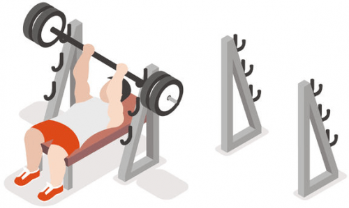 power rack workout at gym