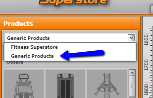 Fitness Superstore planner add products
