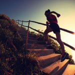 fitness woman runner trail running