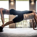 couple doing hiit workout together at home