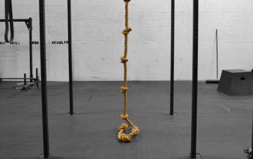 Knotted Climbing Rope