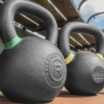Rogue kettlebells in outdoor