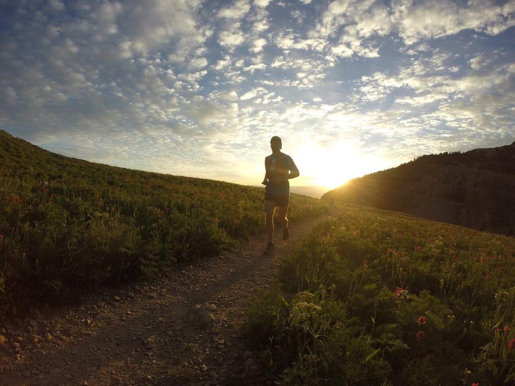 sunrise and runner