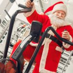 Santa Claus in CrossFit gym