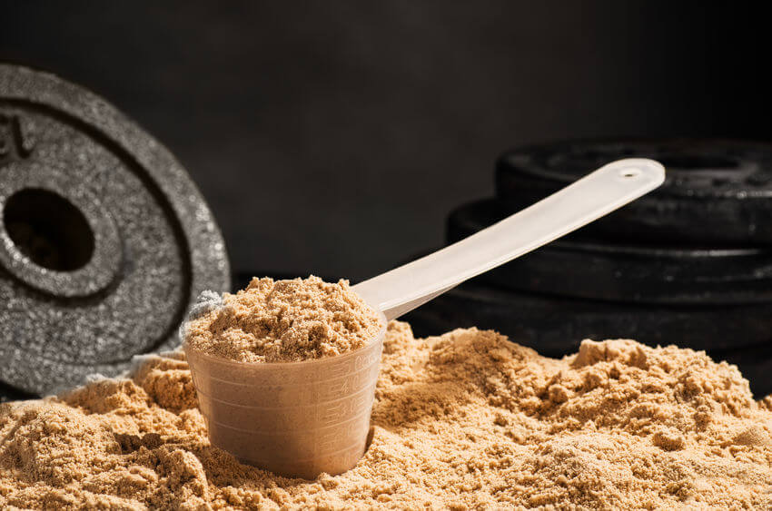 scoop of protein powder