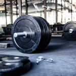 closeup image of a CrossFit equipment in gym