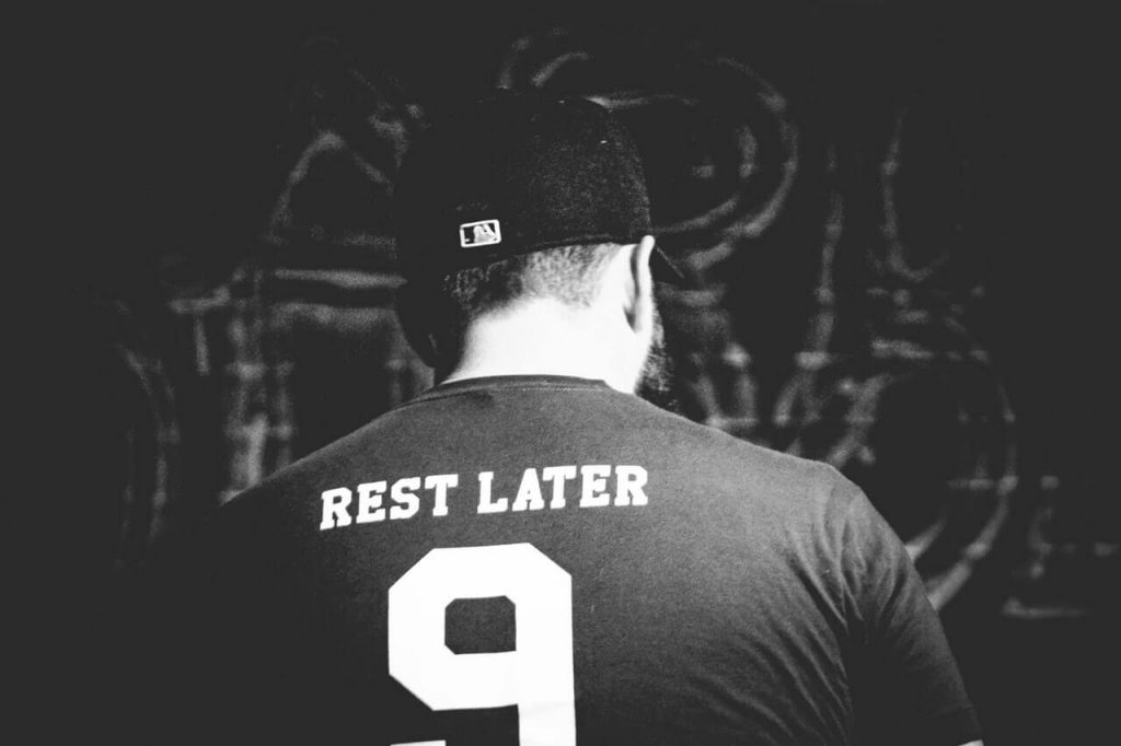 rest later t-shirt - fitness concept