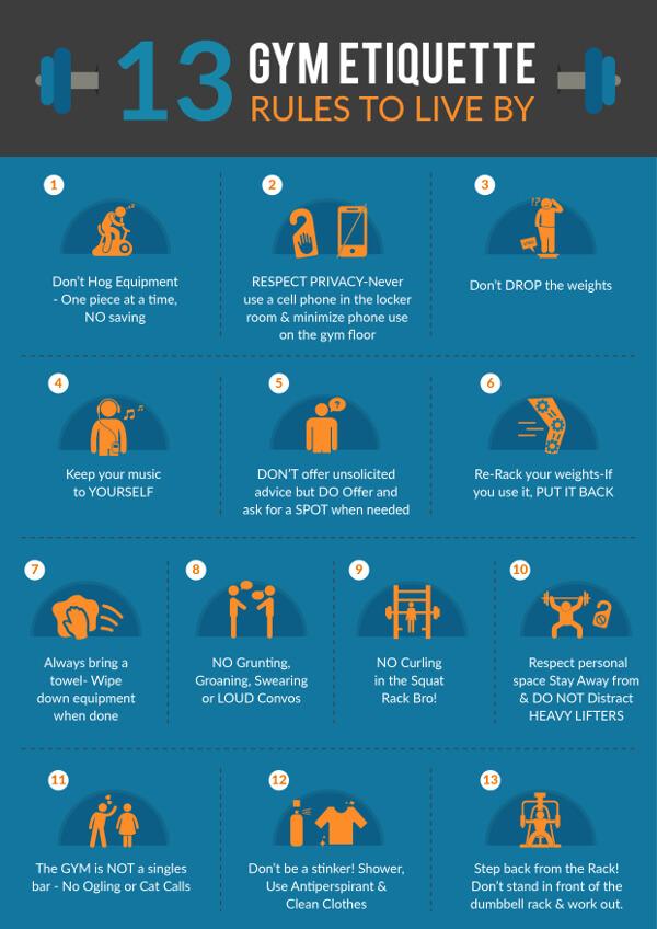 gym etiquette rules poster thumbnail