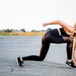 woman wearing black workout leggings