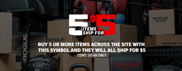 Rogue Fitness 5 items ship for 5