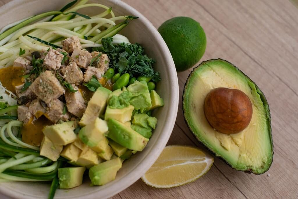 avocado bowl of salad
