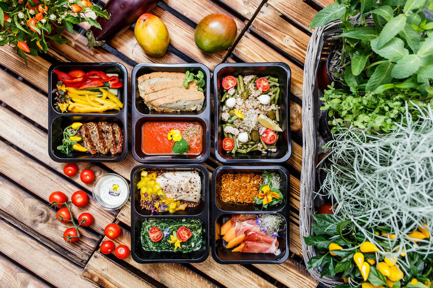 healthy food and diet concept
