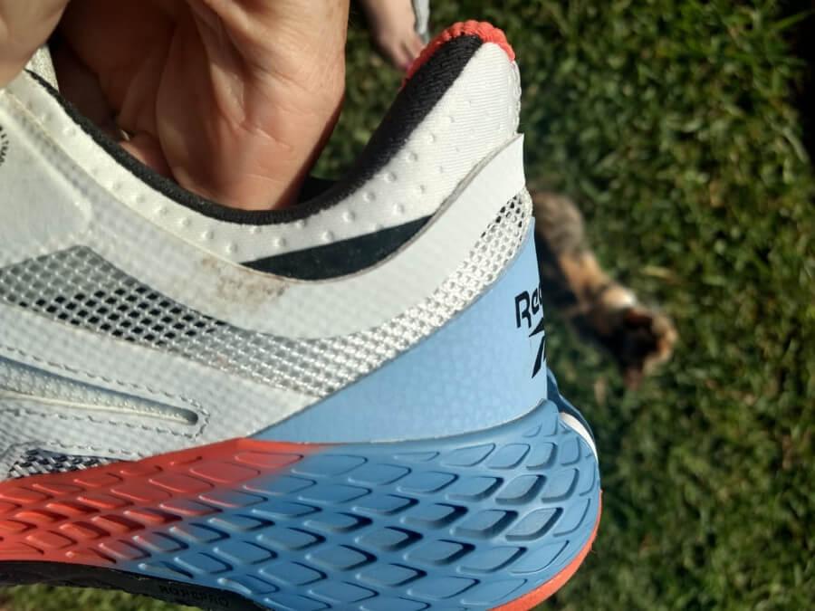 Reebok Nano X shoe heel