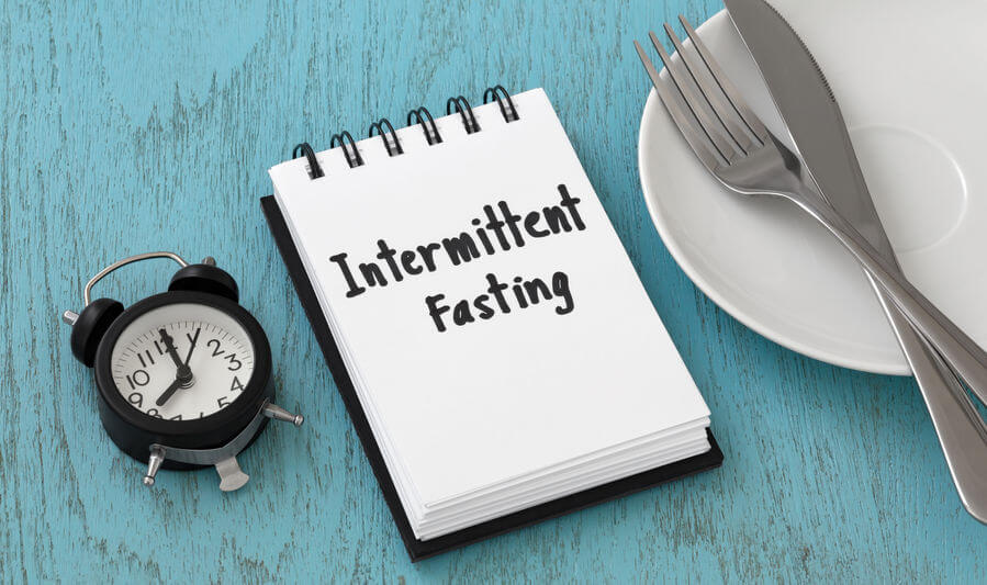 intermittent fasting weight loss and diet concept