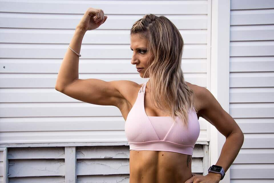 fit woman wearing high impact sports bra