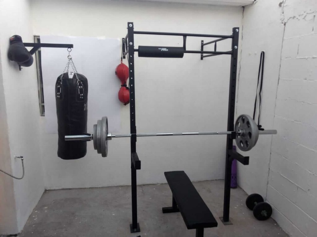 my personal small compact home gym setup